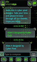 Screenshot of ALIEN X GO SMS Pro