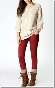 Chunky Knit Jumper with Bows2