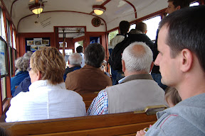 On one of the Wroclaw trams