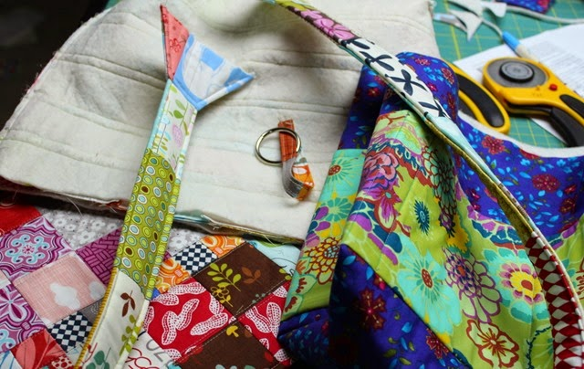 Charming Chunky Wee Bag for Project Quilting progress