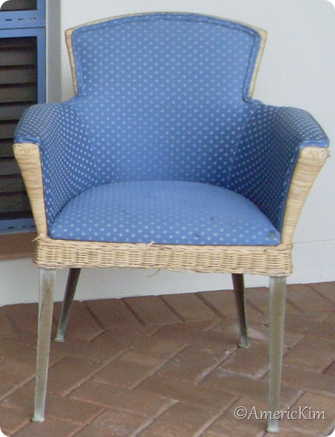 Wicker Chair Before