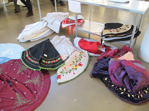 A selection of festive Christmas Tree skirts!