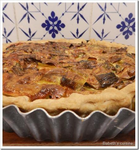 Babeth 39 s cuisine tarte pour les soldes vous en avez 2 pour le prix d une - Tarte aux poireaux legere ...