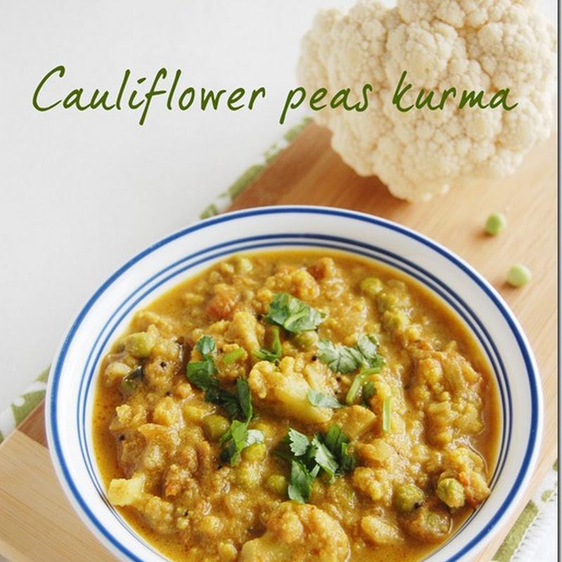 Cauliflower peas kurma