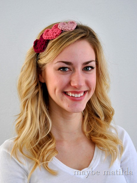 DIY Valentine's Crochet Heart Headband