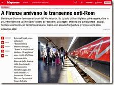 A Firenze arrivano le transenne anti-Rom
