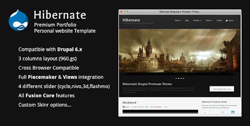 Best Selling Drupal Themes And Templates Hibernate Premium Drupal 6