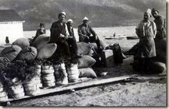 Punëtorët në portin e Vlorës. (Alice Schalek)