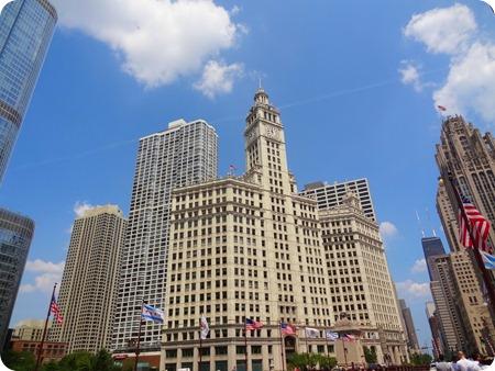 Wrigley building. The Chicago Tribune