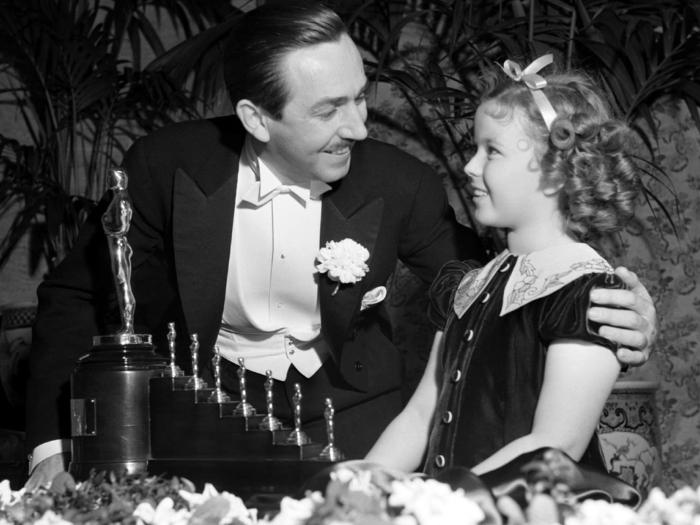Walt Disney ganhando o Óscar