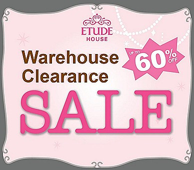 Etude House warehouse sale 2012 retailing Korean skincare, makeup, fragrances, hair  bodycare is at Tanjong Pagar Exchange MRT towards Amara Hotel
