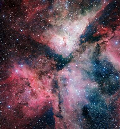 a Nebulosa Carina obtida pelo VST Survey Telescope