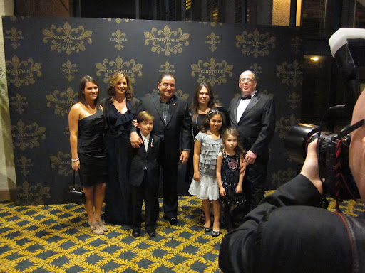 Emeril's beautiful family was ready to celebrate.