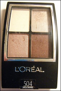 L'Oreal Subtle Berries Eye Shadow Quad