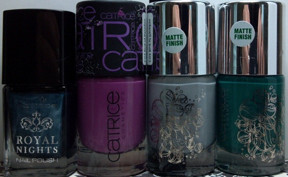 Catrice Royal Petrol, Bird of Paradise, Pebble Beach, Sea of Green (800x495)