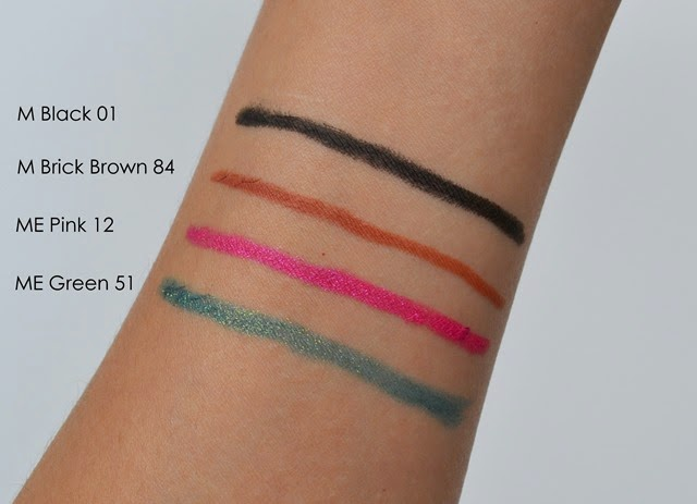 shu uemura Drawing Pencils Swatches