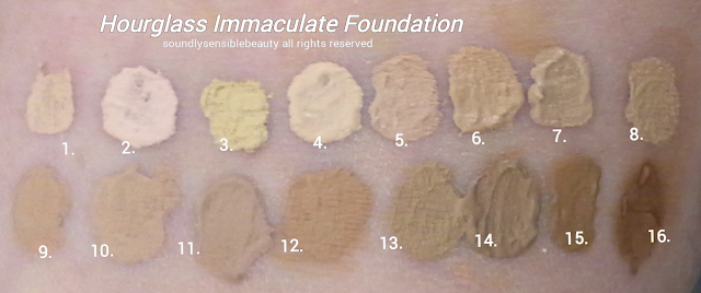 Hourglass Immaculate Liquid-Powder Foundation Review & Swatches of Shades;