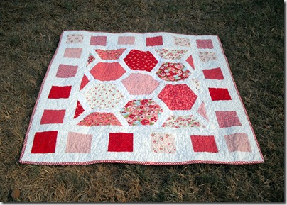 Hexagon Baby Quilt 1