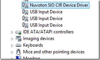 Nuvoton cir device driver что это