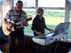 Kevin and Jan Johnston playing some great bouncy numbers. Smile you're on Candid Camera!