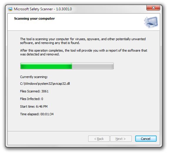 Microsoft Safety Scanner: antivirus versi mudah alih