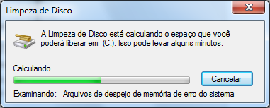 Limpeza de disco do Windows