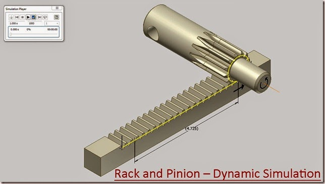 Rack and Pinion – Dynamic Simulation