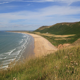 Rhossili Beach by John Davies - Landscapes Beaches ( swansea bay, gower, swansea, gower peninsula, rhossili )