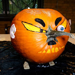 hitler pumpkin at the halloween potluck in Toronto, Ontario, Canada