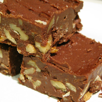 Chocolate-Walnut Freezer Fudge