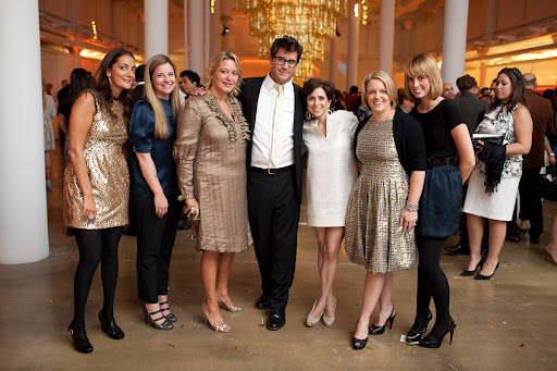 The Martha Stewart Weddings team with Jennifer and Claudia from the Wedding Library.