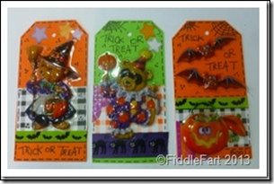 Halloween Trick or Treat Bags with tags. 6