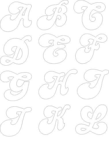 Molde De Letras Do Alfabeto Para Mural Sala Aulajpg
