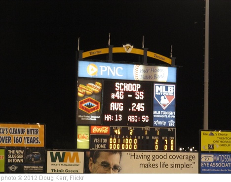 'Bowie Baysox vs. Trenton Thunder - August 18, 2012' photo (c) 2012, Doug Kerr - license: http://creativecommons.org/licenses/by-sa/2.0/