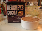 For the cocoa I used Hershey's unsweetened.