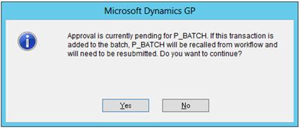 Batch Recall - Transactions Additions
