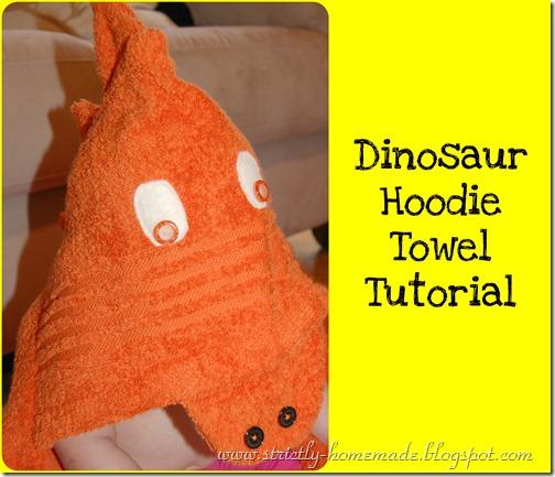 Dinosaur Hoodie Towel Tutorial 2