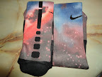 nike basketball elite lebron socks galaxy 2 01 Matching Nike Basketball Elite Socks for LeBron 9 Miami Vice