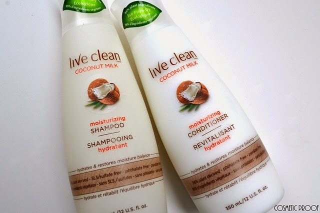 Live Clean Coconut Milk Shampoo and Conditioner Review