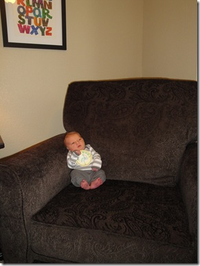 3.  Newborn Knox in chair