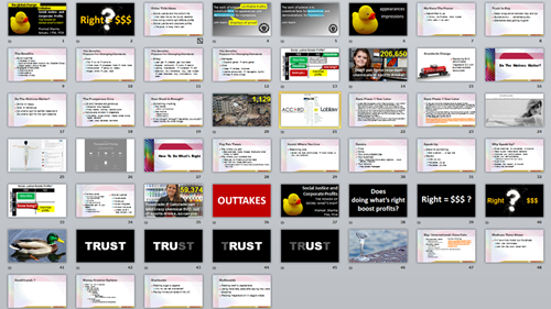 work-in-progress on a new slide deck (replacing bullets with visuals)