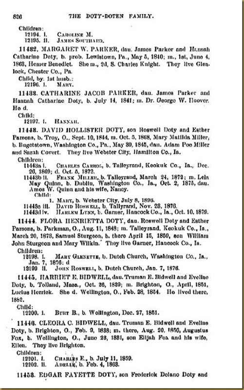 Doty-Doten Family In America-The Family of Joseph Doty202