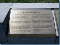 6221 Ottawa - Parliament Buildings grounds - Women Are Persons! statue