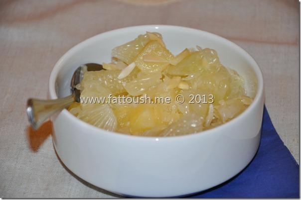 وصفة سلطة فاكهة البوملي مع الأناناس من www.fattoush.me