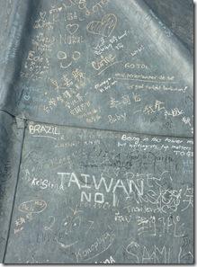 graffiti on carfax tower roof