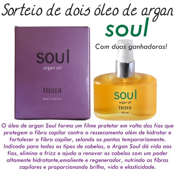 sorteio de 2 óleo de argan soul