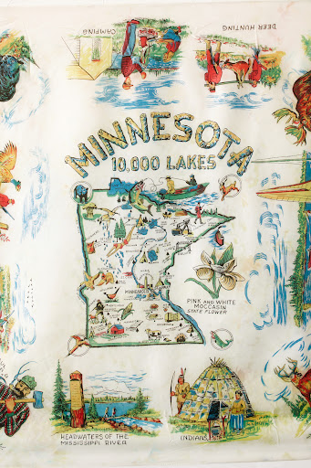 I love the individual scenes on this scarf. (Martha Stewart Living, July 2010)