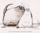 Ronald Searle cats