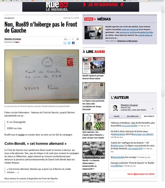 Rue89 recep letra de militants d'esquèrra