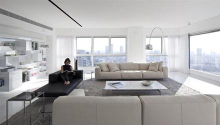 Apartamento de lujo en tel aviv minimalista y for Decoracion de departamentos minimalistas